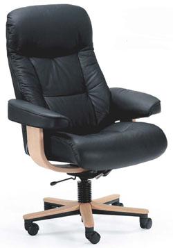 Fjords 215 Muldal Soho Ergonomic Leather Office Chair Scandinavian ...