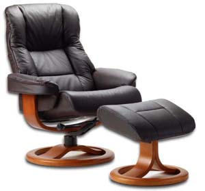 Perfect Fjords Loen Ergonomic Recliner Chair And Ottoman Scandinavian Lounger
