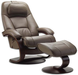 Fjords Admiral Ergonomic Leather C Frame Recliner Chair