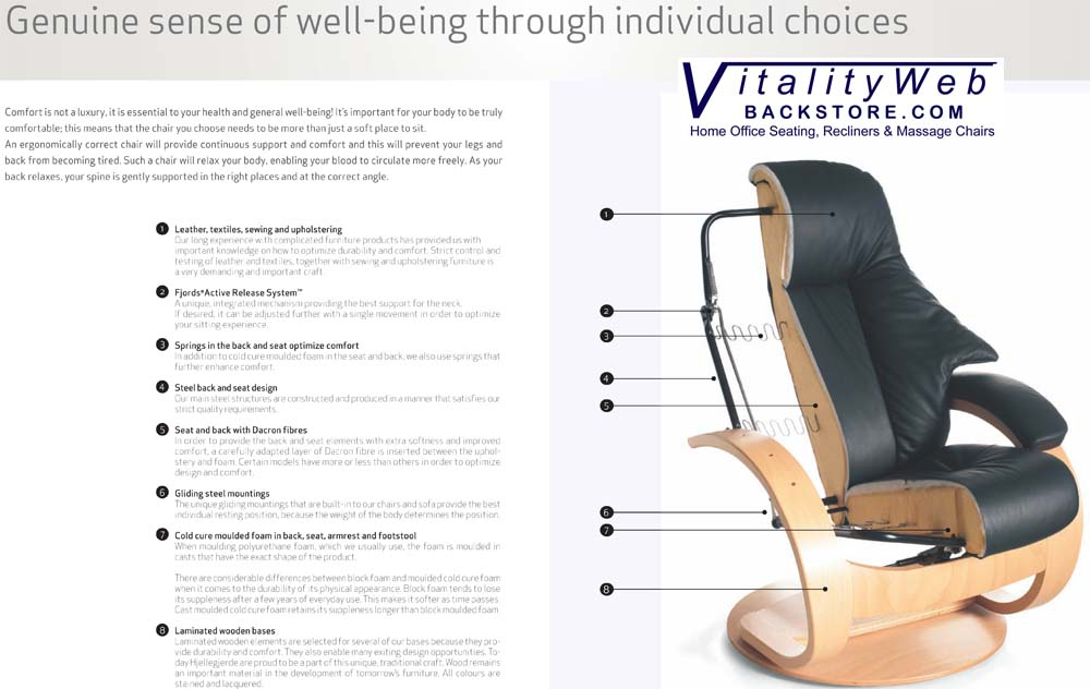 Fjords Ergonomic Recliner Chair and Ottoman  sc 1 st  Vitalityweb.com & Fjords Ergonomic Leather Recliner Chair 10 Year Warranty ... islam-shia.org