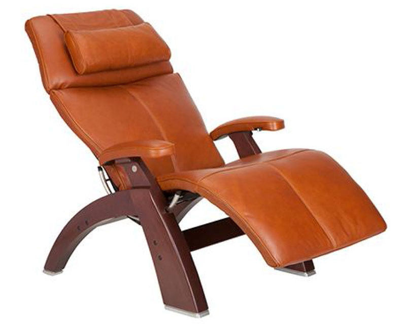 Amazing Cognac Premium Leather Chestnut Wood Base Series 2 Classic Perfect Chair  Zero Gravity Power Recliner By