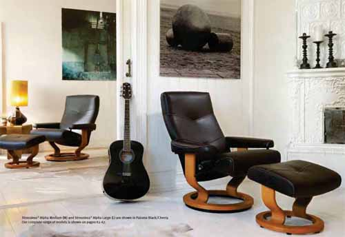 stressless recliner chairs by ekornes alpha