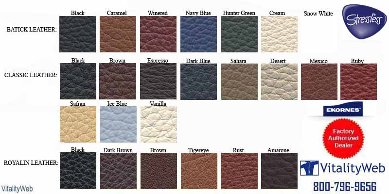 Stressless Royalin Leather Colors