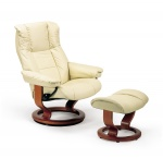 Stressless Mayfair Recliner Chair and Ottoman by Ekornes