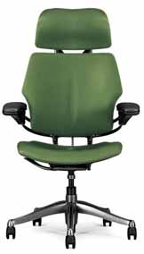 Green HumanScale Freedom Task Home Office Desk Chair